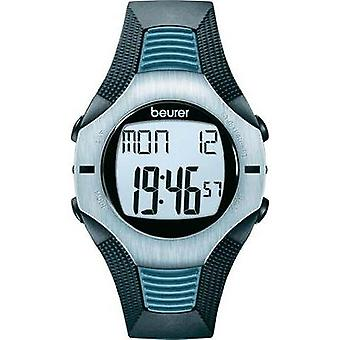 Heart rate monitor watch with chest strap Beurer PM26 Analogue Blue, Grey, Black