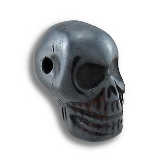 Резные гематит драгоценный камень черепа кулон 25 мм 1.