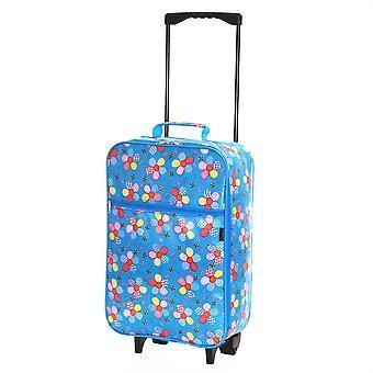 Slimbridge Barcelona niños cabina aprobados bolsa de flores de color azul,