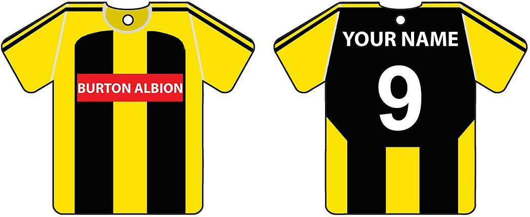 Personalised Burton Albion Football Shirt Car Air Freshener