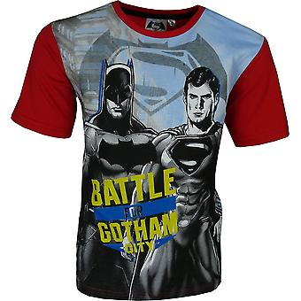 Drenge Batman & Superman kortærmet T-Shirt