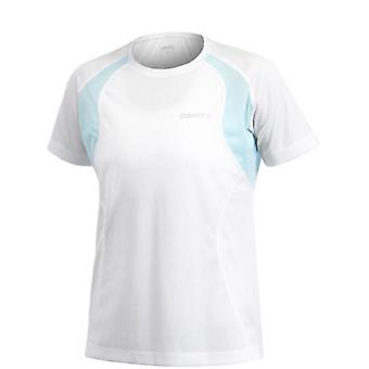 Craft Active Run Womens Tee with Mesh White/Light Blue