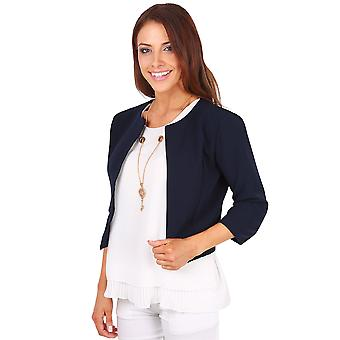 KRISP Cropped Open Shrug Jacket