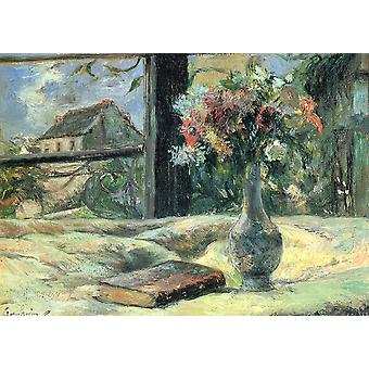 Paul Gauguin - A Book and A Vase Poster Print Giclee