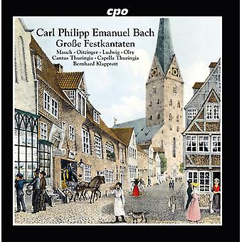 Bach, C.P.E. / miel / Oitzinger / Olry - Festive cantates [CD] USA import
