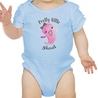 Pretty Little Ghoul Cute Blue Baby Bodysuit For Baby Girl Halloween