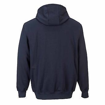 Portwest - schwer entflammbar Sicherheit Workwear Reißverschluss vorne Kapuzen-Sweatshirt