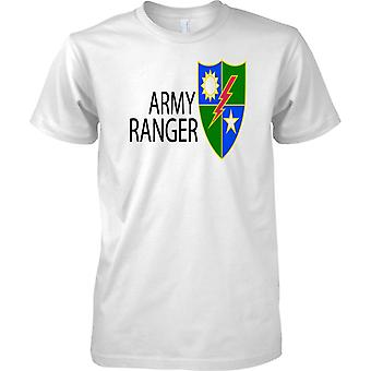 US Army Ranger - Elite Military Unit Special Forces Insignia - Mens T Shirt