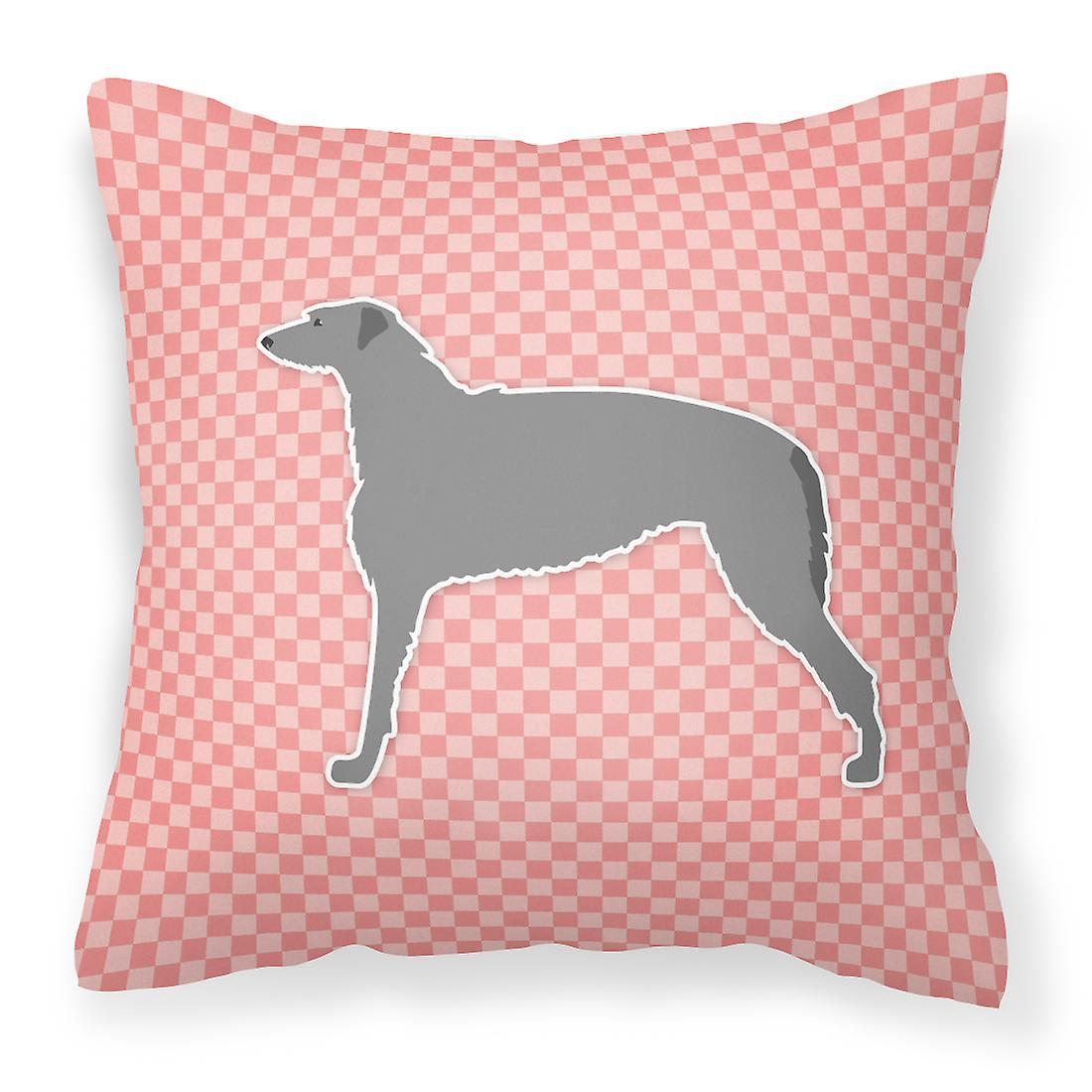 Rose Deerhound Scottish Décoratif Tissu Damier Oreiller gb7Y6fy
