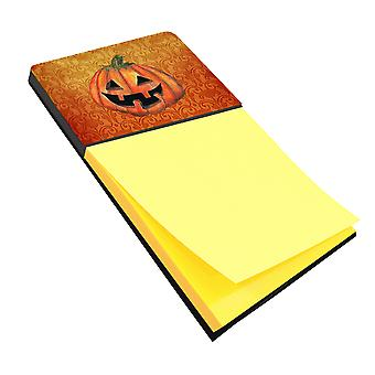 October Pumpkin Halloween Refiillable Sticky Note Holder or Postit Note Dispense