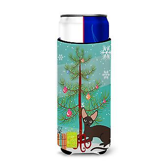 Peterbald Cat Merry Christmas Tree Michelob Ultra Hugger for slim cans