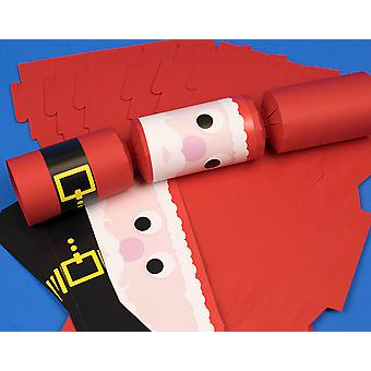 8 Standy Uppy Santa with Belt Make Your Own Christmas Crackers Kit