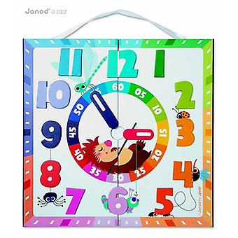 Triptik 2 in 1 Magnetic Board Clock Planner by Janod