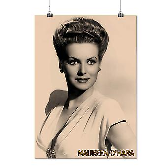 Matte or Glossy Poster with Maureen Ohara Celebrity | Wellcoda | *q1460