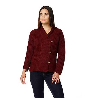 Invisible World Womens 100% Brushed Baby Alpaca Button Cardigan