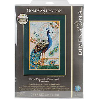 Gold Collection Royal Peacock Counted Cross Stitch Kit-9