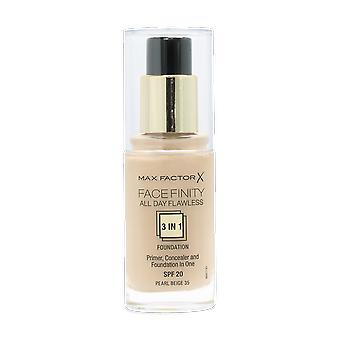 Max Factor Facefinity All Day Flawless 3-1 Foundation 35 Pearl Beige 30ml