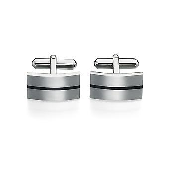 Stainless Steel And Enamel Fashionable Cufflink Brush