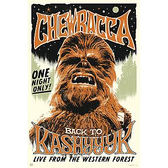 Star Wars Chewbacca Rock Poster Poster Print