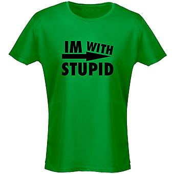 I'm With Stupid Womens T-Shirt 8 Colours (8-20) by swagwear