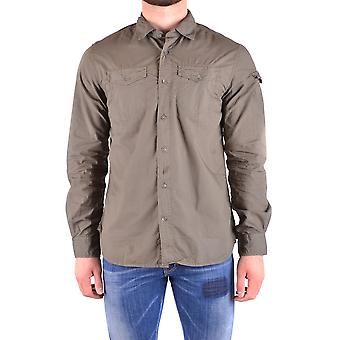 Woolrich men's WOCAM0674LR054161 green cotton shirt