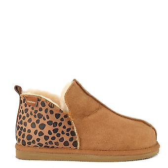 Shepherd of Sweden Annie Chestnut And Leopard Slipper Boot