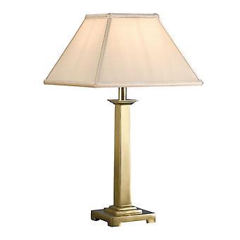 Interiors 1900 Pelham Single Light Solid Brass Table Lamp Ba