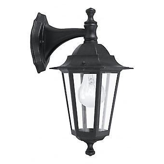 Eglo Lanterna4 1 Light Outdoor Wall Light Black IP33