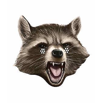 Rakett Raccoon voktere av galaksen enkelt kort partiet ansiktsmaske