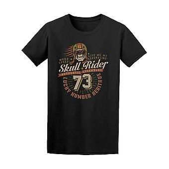Grunge Skull Rider Lucky Number Tee Men's -Image by Shutterstock