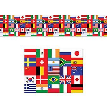 Internationalen Poly Dekoration Fahnenbanner
