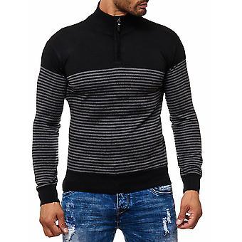Collo alto della maglia manica lunga manica lunga camicia Cardigan calibro fine di uomo maglione