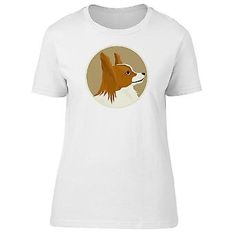 Comic Papillon Dog Tee Women's -Image by Shutterstock