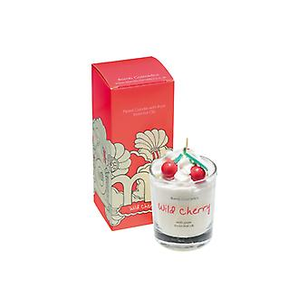 Bomb Cosmetics Piped Glass Candle - Wild Cherry