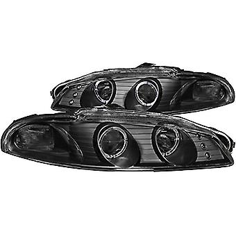 AnzoUSA 121365 Black/Clear Halogen Projector Headlight for Mitsubishi Eclipse