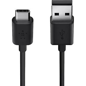 Belkin USB 2.0 câble [1 x USB 2.0 connecteur A - 1 x USB-C fiche] 1,8 m noir ignifuge