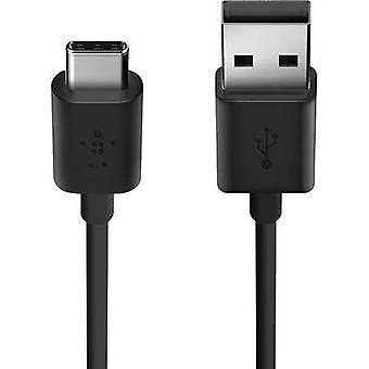 Belkin USB 2.0 Cable [1x USB 2.0 connector A - 1x USB-C plug] 1.8 m Black Flame-retardant
