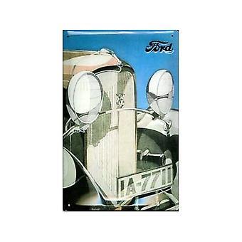Ford V8 Kühlergrill geprägt Stahl Wandschild