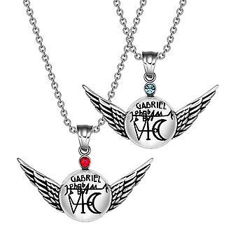 Ærkeenglen Gabriel magiske amuletter kærlighed par sæt engel vinger vedhæng halskæde