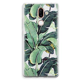 Nokia 7 Plus Transparent Case (Soft) - Banana leaves
