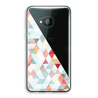 HTC U Play Transparent Case (Soft) - Coloured triangles pastel
