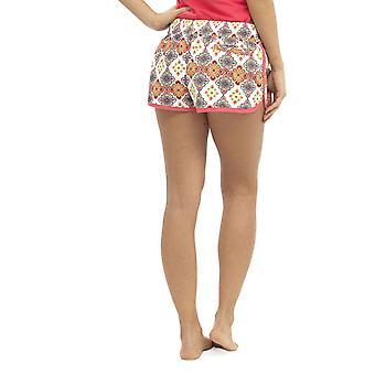 Womens Ladies Floral Resort Tile Print Polyester Summer Beach Shortie Shorts