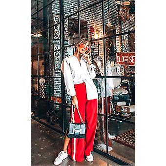 IKRUSH Womens Erika Popper Legged Stripe Trousers