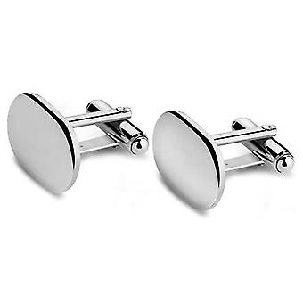 David Van Hagen Oval Cufflinks - Silver