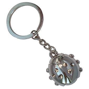 Bassin and Brown Ladybird Keyring - Silver