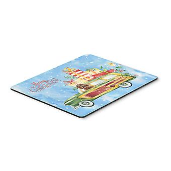 Merry Christmas Labradoodle Mouse Pad, Hot Pad or Trivet
