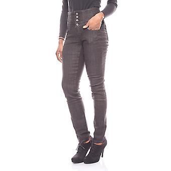 ARIZONA high waist stretch jeans with black rubber insert