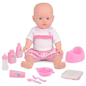 Baby Doll Drink & Wet Kids Lifelike Pretend Play Toy Potty Nappy Bottle ToyStar
