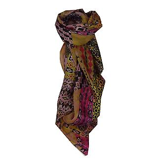 Mulberry Silk Contemporary Square Scarf Bahar Cerise by Pashmina & Silk