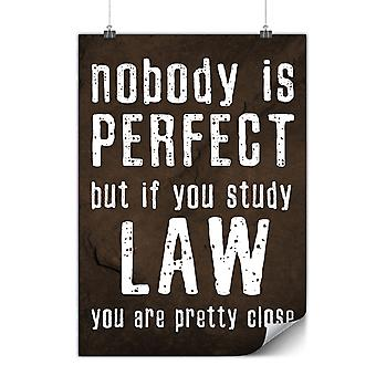 Matte or Glossy Poster with Law Studies Perfect | Wellcoda | *y3576